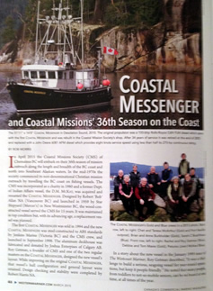 Coastal Missions featured in a Western Mariner magazine article.