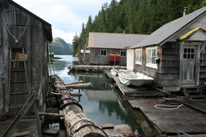 Floating lodge - a typical place for the Coastal Messenger to visit.